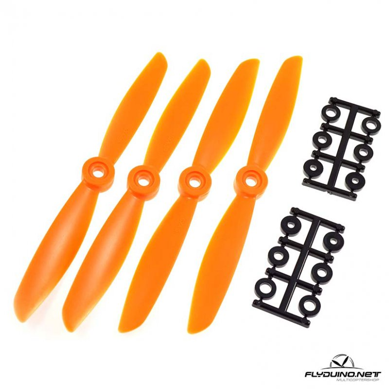 "HQProp 6""x4.5 (15.24cm) Propeller Orange - 4 pcs, Glass reinforced"