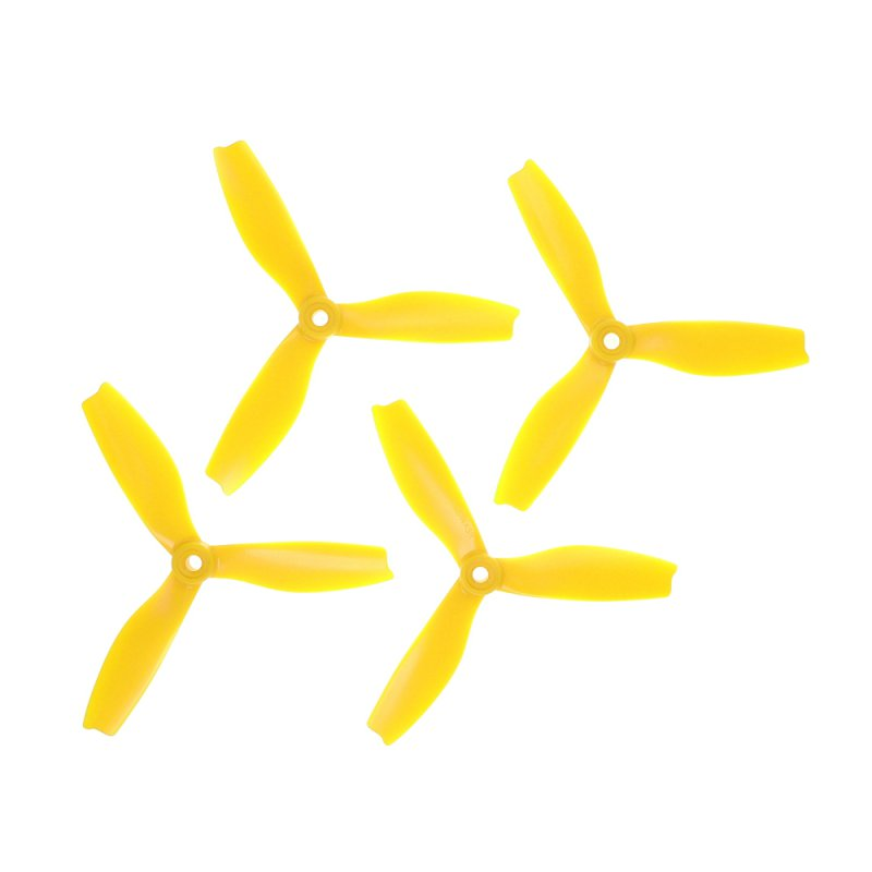 "HQProp 3 Blade DPS 5""x4x3  (12.7cm) Durable S Propeller Yellow - 4 pcs"