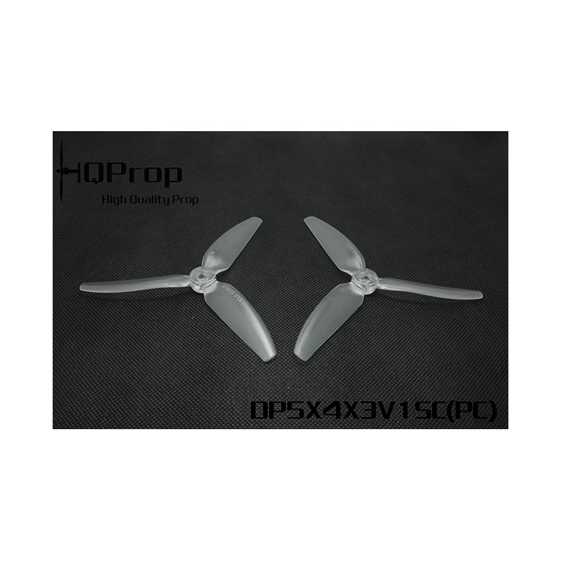 "HQProp 3 Blade DP 5""x4x3 V1S (12,7cm) Durable Propeller Transparent - 4 pcs, Polycarbonate"
